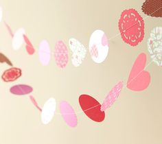 DIY Valentine's Day Sewn Doily Garland. Make It Now in Cricut Design Space