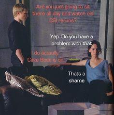Perfect representation of Peeta's and Katniss' personalities/relationship.