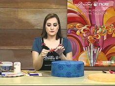 Découpage em Tecido na Madeira - YouTube