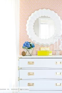 sarah m. dorsey designs: Serena & Lily Inspired Mirror | How To