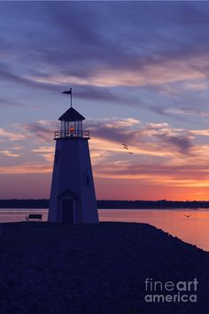 ✯ Lake Hefner lighthouse in Oklahoma City, Oklahoma