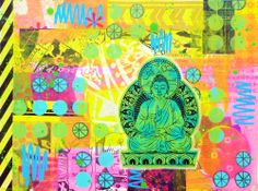 electric buddha | Stephie Dee #mailart