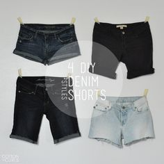 4 DIY DENIM SHORTS