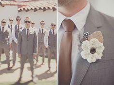 Well- dressed groomsmen