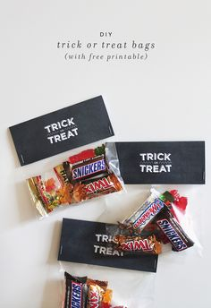 DIY trick or treat bags with FREE printable