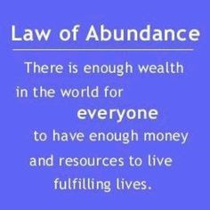 The law of abundance