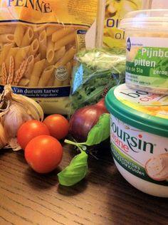 pasta bourisin, pasta met