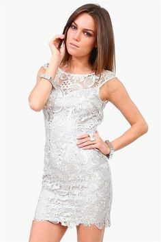 Starry Night Dress in Silver