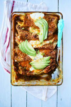 Spicy Pumpkin-Black Bean Enchiladas