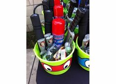 Favors at a Teenage Mutant Ninja Turtle Party #tmnt #party