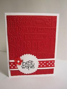 Cuttlebug Happy Birthday