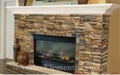 how to wrap stone around free standing fireplace to make it look natural