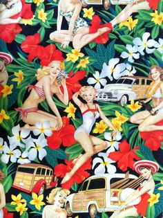 Alexander Henry 'Aloha girls' Fabric