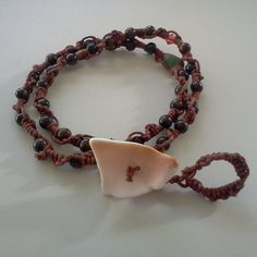 Gemstone Beads Knotted necklace anklet or bracelet  by Rum Cay