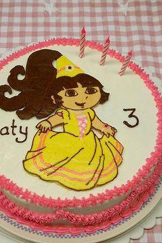 Buttercream Transfer Dora 4