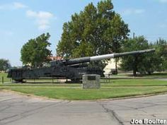 Fort Sill, Oklahoma: Atomic Cannon - The only gun designed to hurl a nuclear shell at an enemy. On display outdoors at Fort Sill.