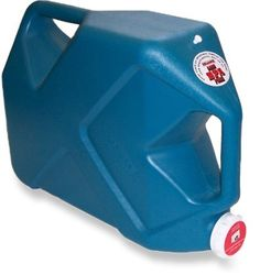7 Gallon water containers... ~8 of these will hold as much as the water barrel with no need for a pump, not much more expensive than the barrel, and it's 56lb per not 460lb...