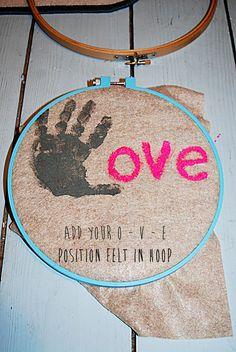 Swell and Stylish.: DIY: Child Valentine's Love Hoop