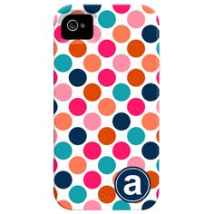 Polka Dots Monogrammed iPhone Case...if i ever get an iphone