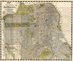 blue print, frame, maps, sf map, san francisco, francisco map