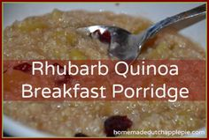 rhubarb quinoa breakfast porridge