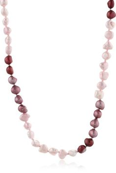 "Freshwater Cultured Aqua Baroque Pearl Endless Necklace (6-7mm), 48"" $26.00 #topseller"