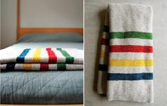 Obsessed with knitting this.    DIY: Knitted Hudson's Bay Blanket from Purl Bee Remodelista