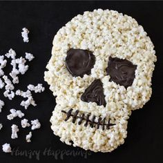 Hungry Happenings: Halloween Dessert - White Chocolate Popcorn Skull