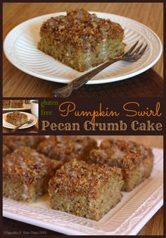 Gluten-Free Pumpkin Swirl Pecan Crumb Cake | cupcakessndkalechips.com | #glutenfree #pumpkin #crumbcake #breakfast