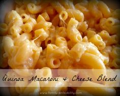 Quinoa for Beginners: Macaroni and Cheese Blend!  Delicious and easy!  It will help you start incorporating quinoa into your diet.
