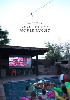 love this pool party movie night