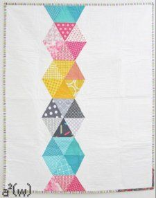 Free Tutorial - Hexstatic Quilt by Ali Winston of A-Squared-W