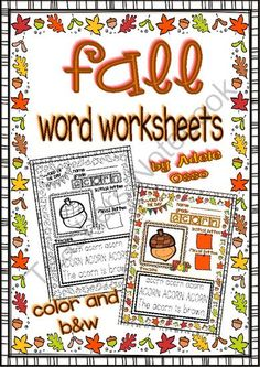 Fall is here!!!! Enter for your chance to win 1 of 3.  Fall Word Worksheets (Write, Color, Trace and Read / Color and b&w Versions) (31 pages) from Adeleteacher on TeachersNotebook.com (Ends on on 10-24-2014)  Be 1 of the 3 winners!!!