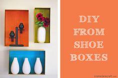 DIY: Wall Shelves From A Shoebox!