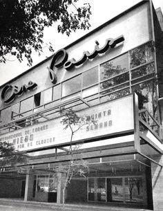 Edificio de cine París, Paseo de la Reforma, Col. Juárez México, DF 1954 -  Arqs. Juan Sordo Madaleno y Jaime Ortiz Monasterio  Paris cinema building, Paseo de la Reforma, Mexico City 1954