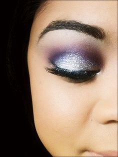 Silver and purple shimmery shadows