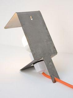 #table #lamp #sheet #metal #simple