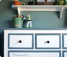 DIY tutorial: paint over Ikea laminate to make new furniture from Centsational Girl.