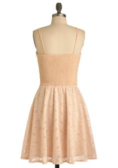 Pale Pink Posies Dress | Mod Retro Vintage Dresses | ModCloth.com