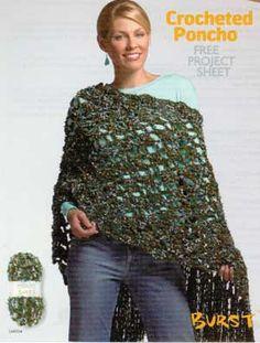 Crocheted Poncho LM0134 | Free Patterns | Yarn