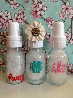 Monogrammed Baby bottles