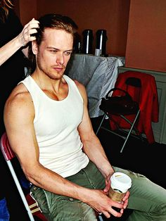 Sam Heughan & coffee