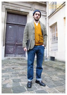 Vintage Alden shoes x varsity letterman x Ralph Lauren tweed jacket  (c)http://www.le-magasin-general.com/    #WorkItWednesday #Alden Shoes are available on www.TheShoeMart.com