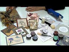 stamp video, paper craft, de pintura, tecnica de, rubber stamp