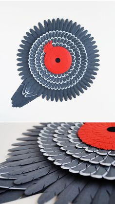 """marine coutroutsios - paper birds (on display at """"he made she made"""" in sydney until june 14)"""