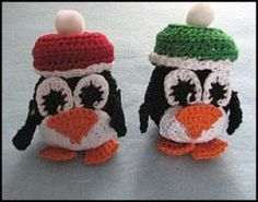 Tiny Penguins - Here's a free, downloadable crochet pattern from YouCanMakeThis.com