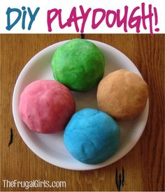 Here is how you can make homemade Playdough.