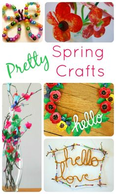 Pretty Spring Crafts...fun spring crafts that kids can make!