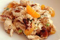 Chicken Salad with Walnuts and Mandarin Oranges (no mayo!!)