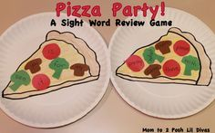 Mom to 2 Posh Lil Divas: Play to Learn: Pizza Party! A Sight Word Review Game